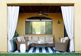 Cabana Curtains Home Depot Patio Style Challenge Reveal Desert Domicile