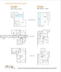 triplex penthouse 2 bed centra residence