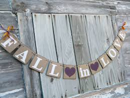 fall in love banner barn wedding decorations bridal shower