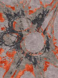 aurora u2013 grey orange rug from bazaar velvet funky and bold this