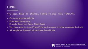 Sans Policy Templates by Brand Ppt Template Fonts Go To Uw Edu Brand Fonts