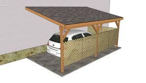 attached carport plans bricolo pinterest ogród