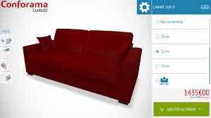 pied de canapé conforama conforama lance confo 3d avec 3dswipe