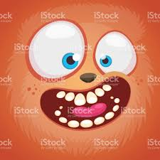 troll for halloween cartoon monster face isolated vector halloween pink furry happy