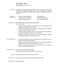 Good College Resume Examples by Resume For Sales And Marketing Executive Free Resume Example And