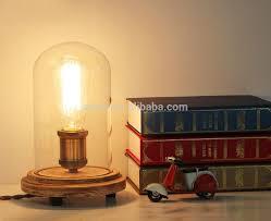 Edison Bulb Table Lamp Decoration Lighting Vintage Edison Bulb Wooden Base Table Lamp