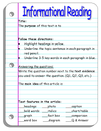 fourth grade informational reading passages resume cover letter