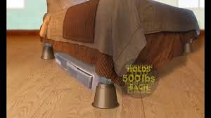 Casters For Bed Frame Slipstick Bed Risers For Raising Beds U0026 Furniture Youtube