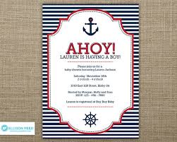 anchor theme baby shower baby shower invitations cheap nautical theme baby shower