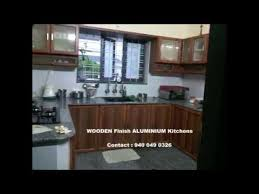 Low Cost Kitchen Design by Low Cost Home Interior Kerala Wood Finish Youtube