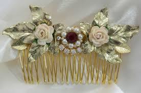 hair comb accessories flowers hair comb ruby efrat davidsohn אפרת דוידסון