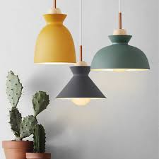 Metal Pendant Light Fixtures Modern Nordic Pendant Lights Scandinavian Loft Pendant L Wood