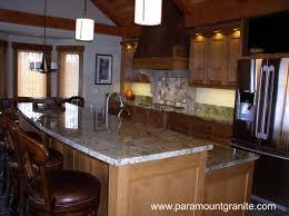 Oak Kitchen Design Furniture Interesting Silestone Vs Granite With Kitchen Sink