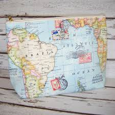 World Map Large by World Map Travel Makeup Cosmetic Toiletry Wash Bag By Lovely