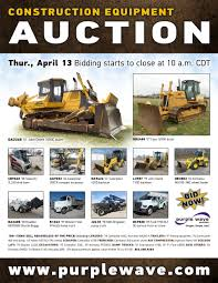 sold april 13 construction equipment auction purplewave inc