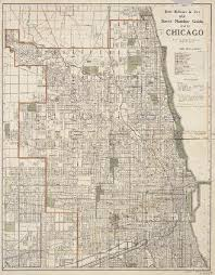 chicago map streets rand mcnally co s new number guide map of chicago 1910
