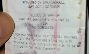tesco bureau de change exchange rate plastic overseas always pay in euros even if it says 0