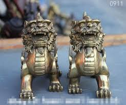 pixiu statue fengshui copper brass fly kylin unicorn beast pixiu
