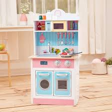 play kitchen from furniture teamson my chef pastel small play kitchen reviews