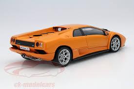 lamborghini diablo orange ck modelcars 74527 lamborghini diablo 6 0 orange 1 18 autoart