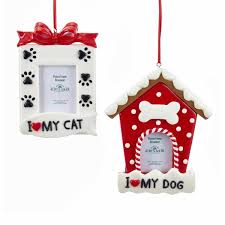 and white cat picture frame ornaments 2 assorted kurt s