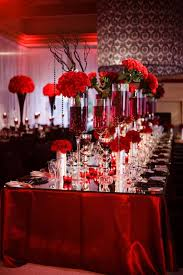Red Damask Wallpaper Home Decor Wedding Decorations Red And White Ideas Wedding Decor Theme