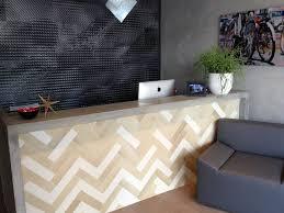 Concrete Reception Desk Magnificent Reception Desk Design With Concrete Kitchen Counter