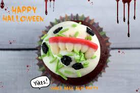 creepy fang cupcakes shake bake and party