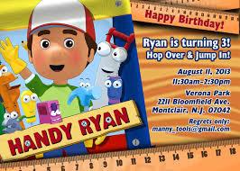handy manny birthday invitations handy manny birthday