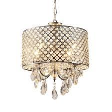 Drum Chandelier Lighting Drum Chandelier Crystal Modern 4 Lights Pendant Lamp Lighting Room