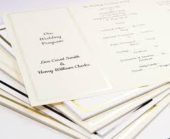 wedding program card stock pearl foil invitation program trifold ecru cardstock 65lb