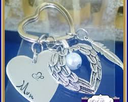 in memory of gifts personalised memorial keychain etsy