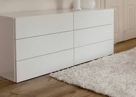 commode chambre blanc laqué commode 6 portes blanc laqué dim 180 82 53 chambre