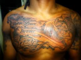 rest in peace forever praying gry ink chest