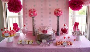 baptism table centerpieces the inspired occasion simple pink christening table with pompoms