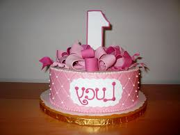 1st birthday cake for girls decorating of party
