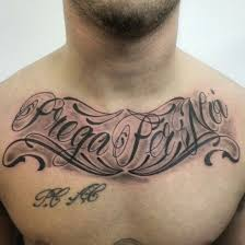 20 best lettering chest tattoos for images on