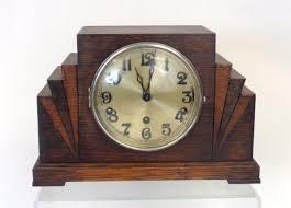 Amazon Mantle Clock Vintage Haller Art Deco Shelf Mantel Clock Wood Works 690