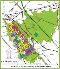 Greater Noida Metro Map by Greater Noida Master Plan With Village Name High Quality Map