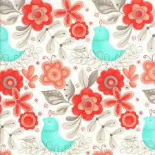 Teal Bird Curtains Aqua And Grey Floral Bird Fabric Flirt By Gervais For