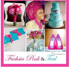 fuchsia pink and teal color palette u2013 my wedding nigeria