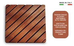 pedana legno pedana doccia in legno quadrata h5638