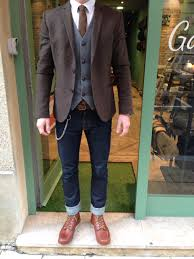 blazer brogues skinny jeans waistcoat classic mens vintage