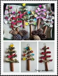 cinnamon stick ornaments and twirls in