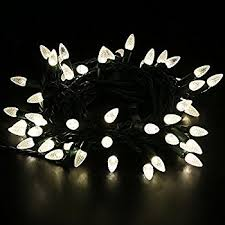 and white christmas lights brite 100 count led c7 faceted light set warm