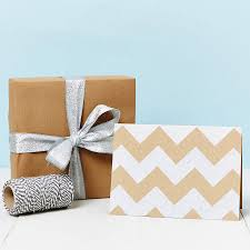 postal wrapping paper silver chevron brown christmas wrapping paper by