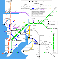 Subway Station Map by Suburban Railway Mumbai Metro Map India