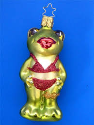 inge glas frog in frosch blown glass christmas ornament