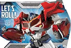 transformers birthday amscan mighty transformers birthday party postcard