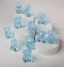 teddy baby shower theme blue acrylic teddy baby shower favors it s a boy theme